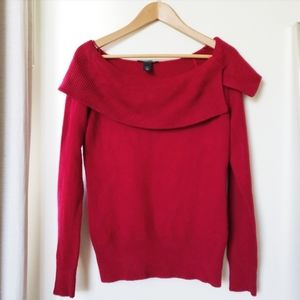 White House Black Market Deep Red Sweater